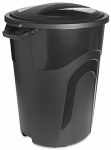 United Solutions TI0019 32GAL BLK Trash Can/Lid