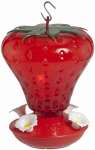 Woodlink NA5540 Hummingbird Feeder, Strawberry Shape, 40-oz.