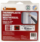 Thermwell EV20BR Rubber Weatherseal, Self Sticking, Brown, 20-Ft.