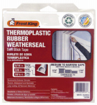 Thermwell EV20W Thermoplastic Rubber Weatherseal, 3/8W x 5/16-In. T x 20-Ft.