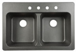 Franke Kitchen Systems FTB904BX Double-Bowl Kitchen Sink, Black, 33 x 22 x 9-In.