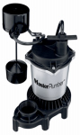 Pentair Water 176952 Sump Pump, Zinc & Plastic Construction, .5-HP Motor, 4,200 GPH