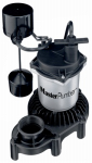 Pentair Water 176953 Sump Pump, Zinc & Plastic Construction, 1/3-HP Motor, 3,600 GPH