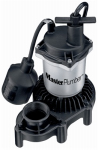 Pentair Water 176958 Sump Pump, Zinc & Plastic Construction, 1/3-HP Motor, 3,600 GPH
