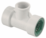 Orbit Irrigation Products 34772 Underground Sprinkler Tee, 3/4 PVC Lock x 3/4 PVC Lock x 1/2-In. FPT