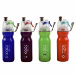 O2cool HMCSP06 Mist N Sip  ArcticSqueeze™ Hydration Water Bottle, 20-oz.