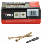 Omg FMTRD003-75 Deck Screws, Brown, 3-In., 75-Pk.