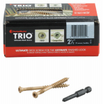 Omg FMTRD212-75 Deck Screws, Brown, 2.5-In., 75-Pk.