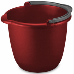 Sterilite 11205812 Spout Pail, Red, 10-Qt.