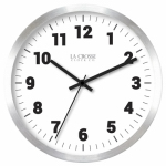 La Crosse Technology 404-2626 Wall Clock, Brushed Silver Metal, 10-In.