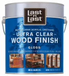 Absolute Coatings Group 13001 Last N Last Wood Finish, Ultra Clear, Gloss, Gal.
