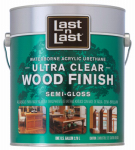 Absolute Coatings Group 14001 Last N Last Wood Finish, Ultra Clear, Semi-Gloss, Gal.