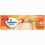 "Personal Care Products 92791-9 50 Count Sandwich Bags with Zipper Seal (6.5"" x 5.86"")"