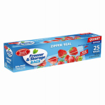 "Personal Care Products 92794-0 25 Count Zipper Seal Freezer Bags – 1 Quart (8""x7"")"