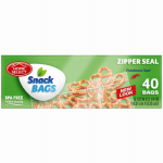 "Personal Care Products 92793-3 50 Count Snack Bags with Zipper Seal (6.5"" x 3.25"")"