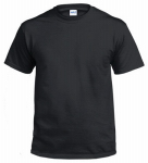 Gildan Usa 291131 T-Shirt, Short-Sleeve, Black Cotton, Large
