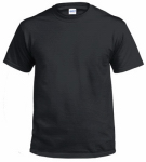 Gildan Usa 291123 T-Shirt, Short-Sleeve, Black Cotton, Medium