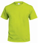 Gildan Usa 291226 T-Shirt, Short-Sleeve, Safety Green Cotton, Large