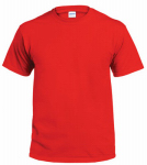 Gildan Usa G2000RED-M T-Shirt, Short-Sleeve, Red Cotton, Medium