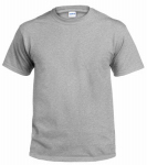 Gildan Usa 291244 T-Shirt, Short-Sleeve, Safety Grey Cotton, Large