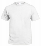 Gildan Usa 291250 T-Shirt, Short-Sleeve, White Cotton, Large