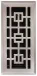 Imperial Mfg Group Usa RG3295 Floor Register,  Satin Nickel, 4 x 12-In.