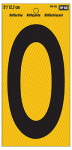 "Hy-Ko Prod RV-75/0 Address Number, Reflective Yellow & Black, 5-In., ""0"""
