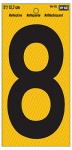 "Hy-Ko Prod RV-75/8 Address Number, Reflective Yellow & Black, 5-In., ""8"""
