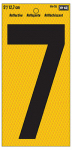 "Hy-Ko Prod RV-75/7 Address Number, Reflective Yellow & Black, 5-In., ""7"""