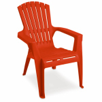 Adams Mfg 8460-26-3731 Kids' Adirondack Chair, Cherry Red