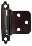 Brainerd Mfg Co/Liberty Hdw H0103BC-500-C Cabinet Overlay Hinge, Self-Closing, Oil-Rubbed Bronze