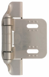 Brainerd Mfg Co/Liberty Hdw H01911C-SN-O Cabinet Overlay Hinge, Semi-Wrap, Satin Nickel, 1/4-In.