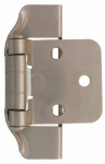 Brainerd Mfg Co/Liberty Hdw H01915C-SN-O Cabinet Overlay Hinge, Semi-Wrap, Satin Nickel, 1/2-In.
