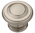 Brainerd Mfg Co/Liberty Hdw P22669C-SN-U1 Cabinet Knob, Harmon, Satin Nickel, 1-3/8-In.