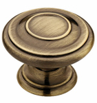 Brainerd Mfg Co/Liberty Hdw P22669C-AB-C Cabinet Knob, Harmon, Antique Brass, 1-3/8-In.