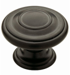 Brainerd Mfg Co/Liberty Hdw P22669C-FB-C Cabinet Knob, Harmon, Flat Black