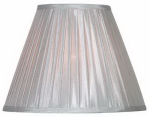 Kenroy Home FMSH215-15-SIL Lamp Shade, Soft Pleated, Silver, 7.5 x 15 x 11.5-In.