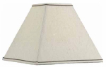 Kenroy Home FMSH856-14-TPLN Lamp Shade, Taupe Square, 5.5 x 14 x 10.75-In.