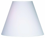 Kenroy Home FMSH921-14-WH Lamp Shade, Round White Linen, 6.5 x 14 x 11.5-In.