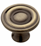 Brainerd Mfg Co/Liberty Hdw P50141C-AB-U1 Cabinet Knob, Round Ring, Antique Brass, 1.25-In., 10-Pk.