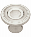 Brainerd Mfg Co/Liberty Hdw P50141L-SN-U1 Cabinet Knob, Round Ring, Satin Nickel, 1.25-In., 10-Pk.