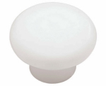 Brainerd Mfg Co/Liberty Hdw P624AAC-W-U1 Cabinet Knob, Round, White Plastic, 1-3/8-In., 10-Pk.