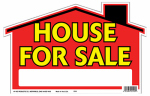"Hy-Ko Prod 22120 ""House for Sale"" Sign, Polyethylene, 9 x 12-In."