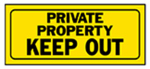 "Hy-Ko Prod 23006 "" Private Property"" Sign, Polyethylene, 6 x 14-In."