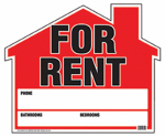 "Hy-Ko Prod RS-901 ""House for Rent"" Sign, 19 x 23-In."