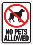 Hy-Ko Prod 20616 8.5x12 No Pets Sign