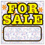 "Hy-Ko Prod 22203 ""For Sale"" Sign, Polyethylene, 12 x 12-In."