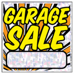 "Hy-Ko Prod 22202 ""Garage Sale"" Sign, Silver Polyethylene, 12 x 12-In."