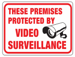Hy-Ko Prod 20619 Video Surveillance Sign, 8.5 x 12-In.
