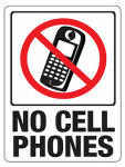 Hy-Ko Prod 20618 8.5x12 Cell Phone Sign